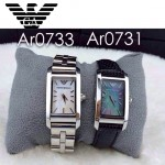 ARMANI-190 時尚潮流新款女士原單方形皮帶款石英腕錶