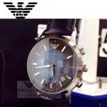 ARMANI-195 時尚潮流男士商務系列原單皮帶打孔石英腕錶