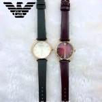 ARMANI-192 時尚個性女士原單兩色皮帶款石英腕錶