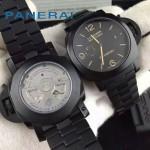 PN1091 型男必備單品P9000槍色鋼帶藍寶石鏡面瑞士機械腕錶