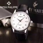 PATEK PHILIPPE-066-3 百達翡麗經典男士腕表 亞洲進口機械機芯 316精鋼表殼 真牛皮表帶原裝針扣