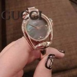 GUCCI-059 歐美人氣新款女士貝母表面藍寶石玻璃手鐲款進口石英腕錶