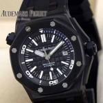 AP-071  爱彼皇家橡树离岸型系列自动上链腕表黑色表盘镌刻超大型格纹装饰