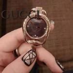 GUCCI-060 歐美人氣新款女士貝母表面藍寶石玻璃手鐲款進口石英腕錶
