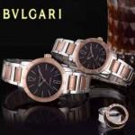 Bvlgari-35 人氣熱銷單品古羅馬元素間玫瑰金系列黑底情侶款瑞士ETA2824機械腕錶