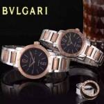 Bvlgari-37 人氣熱銷單品古羅馬元素間玫瑰金系列黑底情侶款瑞士ETA2824機械腕錶