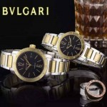 Bvlgari-41 人氣熱銷單品古羅馬元素間金系列黑底情侶款瑞士ETA2824機械腕錶