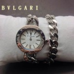 Bvlgari-87 時尚優雅高貴女士Catene系列白色手鏈款進口石英腕錶