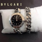 Bvlgari-85 時尚優雅高貴女士Catene系列黑色手鏈款進口石英腕錶
