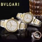 Bvlgari-39 人氣熱銷單品古羅馬元素間金系列白底情侶款瑞士ETA2824機械腕錶