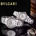Bvlgari-31 人氣熱銷單品古羅馬元素閃亮銀白底鑲鑽情侶款瑞士ETA2824機械腕錶