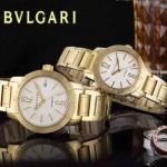 Bvlgari-42 人氣熱銷單品古羅馬元素土豪金白底情侶款瑞士ETA2824機械腕錶