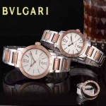 Bvlgari-34 人氣熱銷單品古羅馬元素間玫瑰金系列白底情侶款瑞士ETA2824機械腕錶