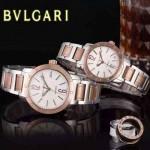 Bvlgari-36 人氣熱銷單品古羅馬元素間玫瑰金系列白底情侶款瑞士ETA2824機械腕錶