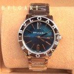 Bvlgari-89 名媛必備新款珍寶系列閃亮銀藍寶石鏡面316L精鋼錶殼日本石英腕錶