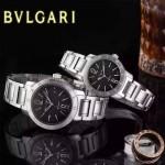 Bvlgari-32 人氣熱銷單品古羅馬元素閃亮銀黑底情侶款瑞士ETA2824機械腕錶
