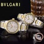Bvlgari-40 人氣熱銷單品古羅馬元素間金系列白底情侶款瑞士ETA2824機械腕錶