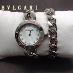 Bvlgari-86 時尚優雅高貴女士Catene系列白色鑲鑽手鏈款進口石英腕錶
