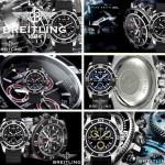 BREITLING-026 人氣熱銷單品商務男士藍色超級海洋全新棘輪硅膠帶款腕錶