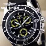 BREITLING-027 人氣熱銷單品商務男士黃色超級海洋全新棘輪硅膠帶款腕錶