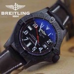 BREITLING-023 時尚男士槍色316L精鋼錶殼藍寶石鏡面瑞士2824全自動機械腕錶