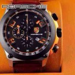 Porsche-033   男士腕表進口石英機芯 316精鋼表殼真皮表帶