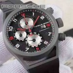 Porsche-027  純天然橡膠以及钛鋼材質  日本6S20石英機芯