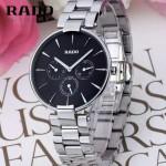 RADO-013 潮流新款COUPOLE晶燦系列四針設計閃亮銀黑底316鋼殼石英腕錶