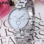 RADO-011 潮流新款COUPOLE晶燦系列四針設計閃亮銀白底鑲鑽316鋼殼石英腕錶