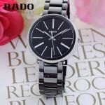 RADO-021 名媛必備淑女風女士閃亮銀黑色陶瓷系列進口石英腕錶