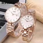 RADO-015 歐美時尚新款情侶表土豪金316L精鋼強化玻璃進口石英腕錶