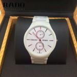 RADO-02 時尚潮流中性款真薄4針系列白色陶瓷進口石英腕錶