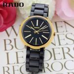 RADO-019 名媛必備淑女風女士土豪金黑色陶瓷系列進口石英腕錶