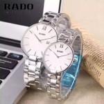RADO-014 歐美時尚新款情侶表316L精鋼強化玻璃進口石英腕錶