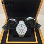 RADO-04 時尚潮流中性款真薄4針系列黑色陶瓷進口石英腕錶