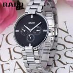 RADO-05 潮流新款COUPOLE晶燦系列四針設計閃亮銀黑底316鋼殼石英腕錶
