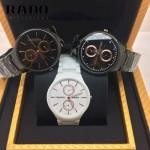 RADO-03 時尚潮流中性款真薄4針系列黑色陶瓷進口石英腕錶
