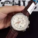 MOVADO-010 潮流商務男士思卡系列計時跑秒藍寶石鏡面進口石英腕錶