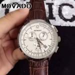 MOVADO-08 潮流商務男士思卡系列計時跑秒藍寶石鏡面進口石英腕錶