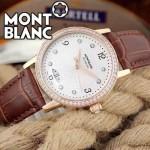 MONTBLANC-08 時尚潮流商務男士藍寶石鏡面瑞士ETA2824機械腕錶