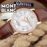 MONTBLANC-09 時尚潮流商務男士藍寶石鏡面瑞士ETA2824機械腕錶