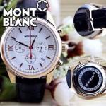 MONTBLANC 013 明星周渝民同款時光行者系列土豪金白底皮帶款原裝石英腕錶