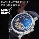 MONTBLANC-01 巴塞爾表展新款男士單鈕計時316精鋼材質全自動機械腕錶