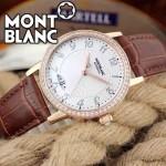 MONTBLANC-05 時尚潮流商務男士藍寶石鏡面瑞士ETA2824機械腕錶