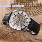 VC-03 時尚男士傳承鏤空系列三針設計閃亮銀白底雕花316精鋼錶殼自動機械腕錶