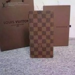 LV N60017-2 時尚商務BRAZZA咖色棋盤格原版皮兩折西裝夾錢包
