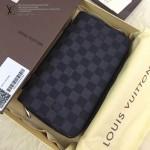 LV N41503-2 時尚商務休閒男士黑色棋盤格原版皮多功能手拿包錢包