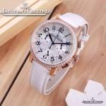JAEGER-016-8 時尚潮流女士約會系列白色土豪金鑲鑽VK進口石英腕錶