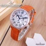 JAEGER-016-5 時尚潮流女士約會系列橙色土豪金鑲鑽VK進口石英腕錶