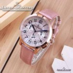 JAEGER-016-21 時尚潮流女士約會系列粉色土豪金VK進口石英腕錶